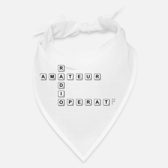 Scrabble Caps - Amateur Radio Operator - Bandana white