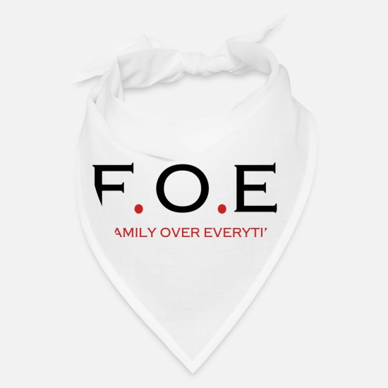 Over Caps - Family Over Everything - Bandana white