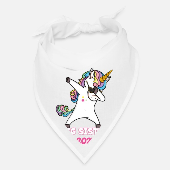Big Caps - Big Sister 2021 Shirt Dabbing Unicorn - Bandana white