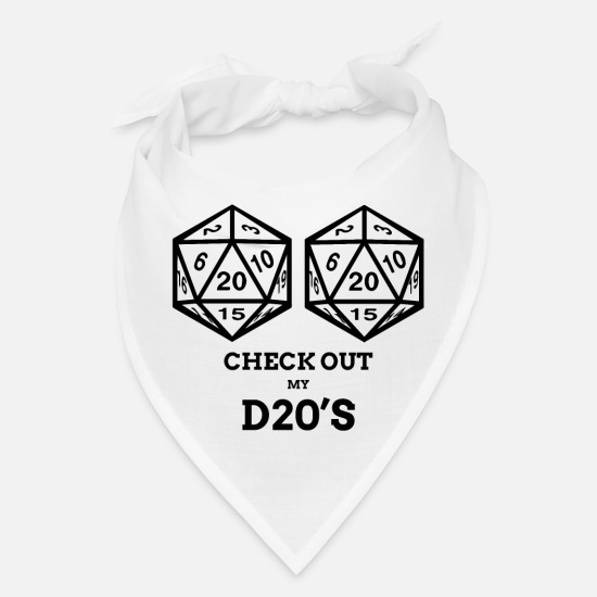 Tits Caps - Funny RPG D20 Shirt Natural Game Retro T Shirt - Bandana white