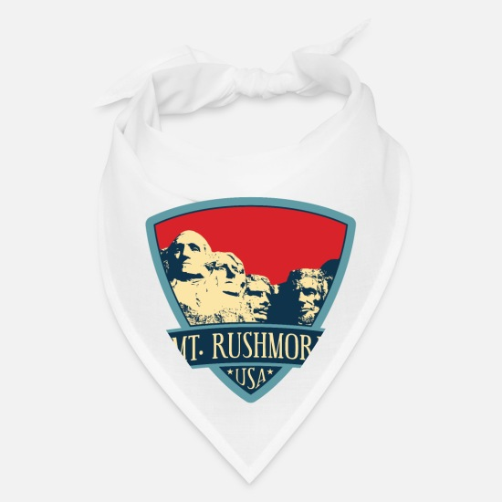Monument Caps - Mt Rushmore - USA - Bandana white