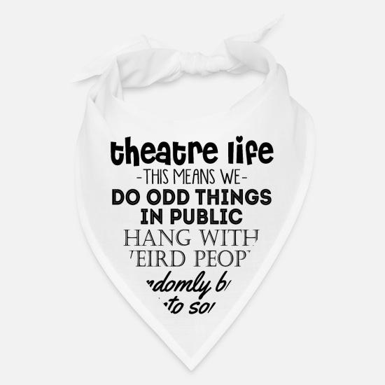 Occupation Caps - Theatre Life -This Means We- Do Odd Things In Publ - Bandana white