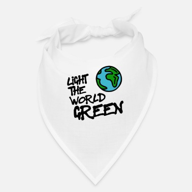 Sayings Colour the world in green - Bandana