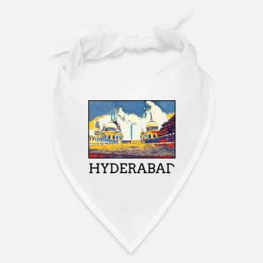 Hyderabad Hyderabad City Skyline Art Sights Landmark - Bandana