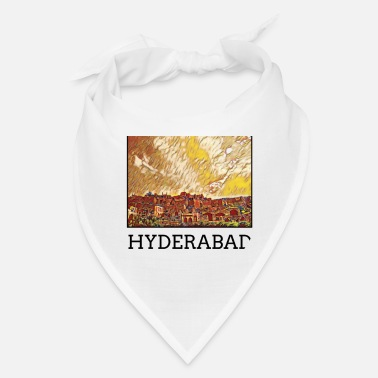 Hyderabad Hyderabad City Skyline Art Sights - Bandana