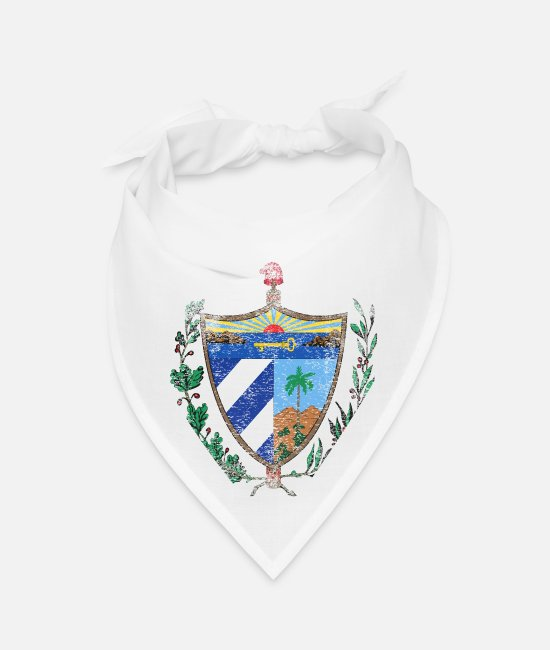 Design Bandanas - Cuban Coat of Arms Cuba Symbol - Bandana white
