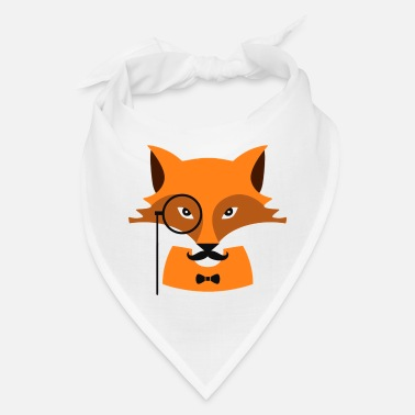 Monocle Fox with monocle - Bandana