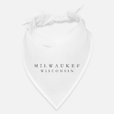 Milwaukee Wisconsin Milwaukee, Wisconsin (Ancient Black) - Bandana