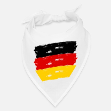 Federal Republic Of Germany Fahne Deutschland handpainted - Bandana