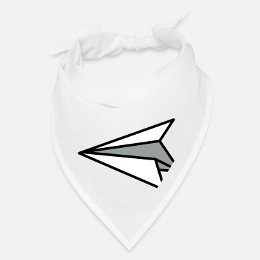 Bossy origami paper plane in flight! - Bandana