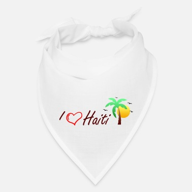 Made In Haiti I love Haiti - Bandana