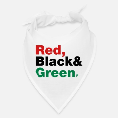 Red Black And Green Red, Black & Green. - Bandana