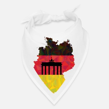 Brandenburg Gate German flag and Brandenburg gate - Bandana
