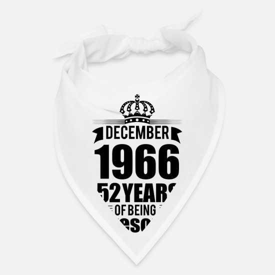 Birthday Caps - December 1966 52 years of being awesome - Bandana white