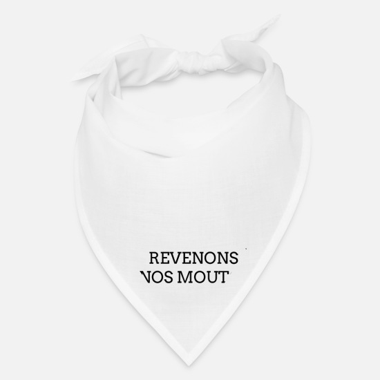 Beautiful Caps - REVENONS À NOS MOUTONS Inspirational - Bandana white