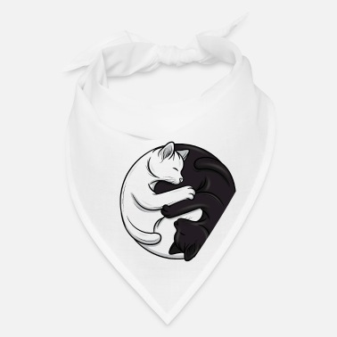 Taoism Ying and Yang cats Taoism Meditation Kitten Gift - Bandana