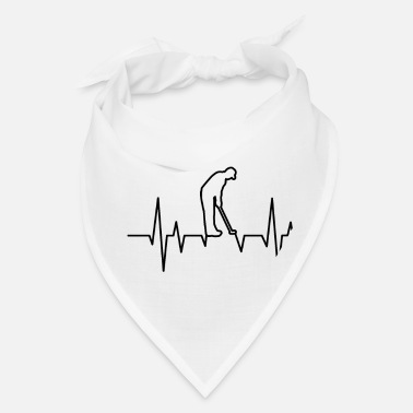Championship GOLF HEARTBEAT Golfing Clothes Women Men Kids - Bandana