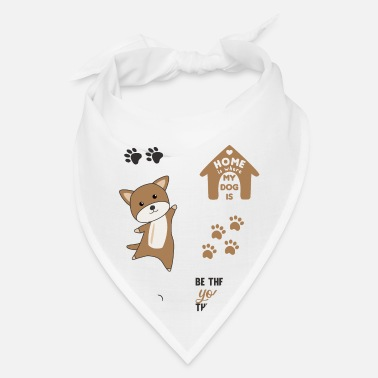 Set Dog Brown Puppy Paws Cute Sticker Pack - Bandana