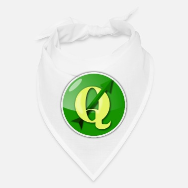 Qgis QGIS Logo on round background - Bandana