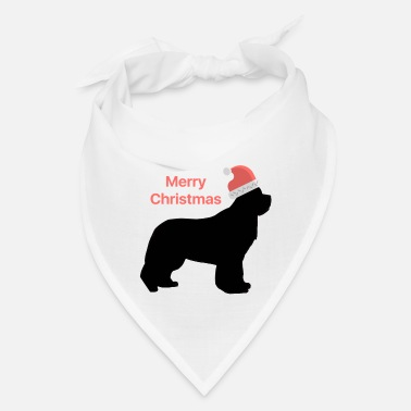 Christmas Design Newfie with Santa Hat - Bandana