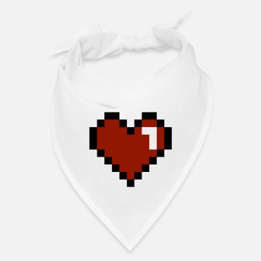 I Love Heart Pixelated - Bandana