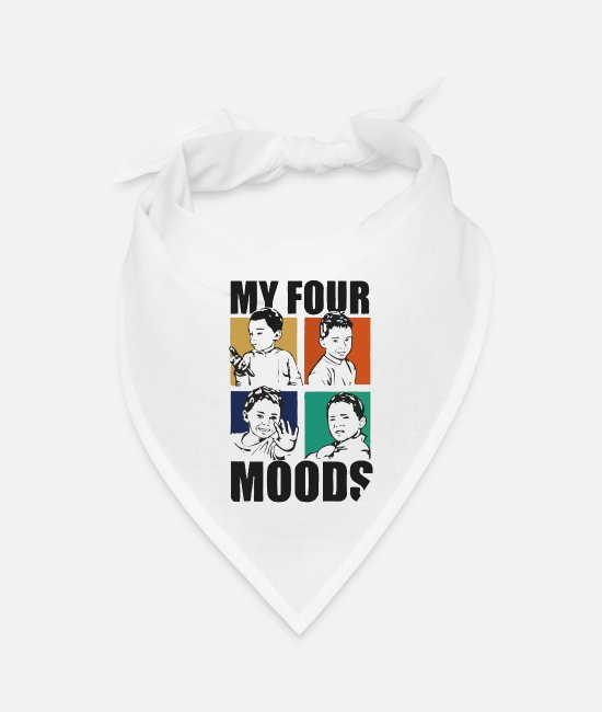 Happiness Bandanas - My four mood - Bandana white