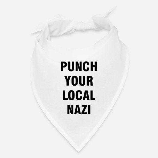 Gift Idea Caps - Statement against Nazis | Antifacism liberal Gifts - Bandana white