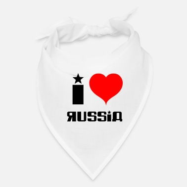 I Love Russia Shirt Design I love Russia - Bandana