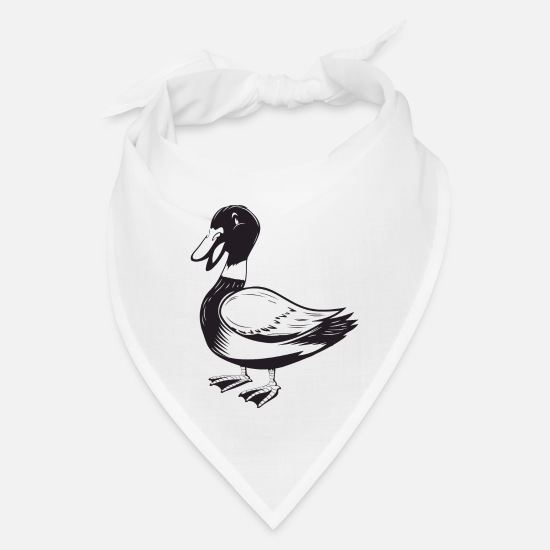 Pond Caps - Duck Wild Duck Animalis - Bandana white