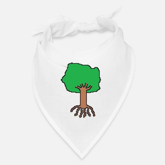Tree Pixel Art Bandana White