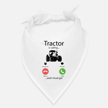 Kindergarten Tractor is calling and I must go farmer gift - Bandana