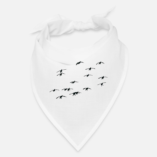 Waterfowl Caps - Goose Hunting De n & Waterfowl Hunting De n - Bandana white