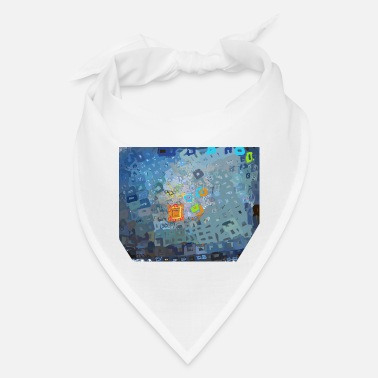 spreading blue square abstract - Bandana