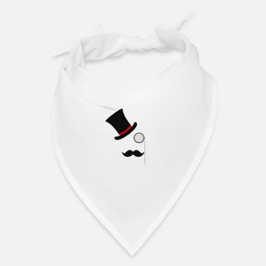 Monocle Mustache and monocle with top hat - Bandana