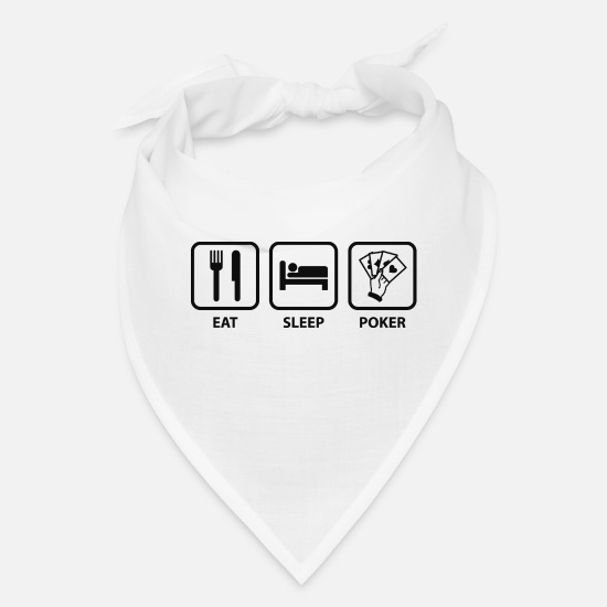 College Caps - Eat Sleep Poker - Bandana white