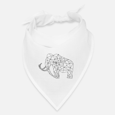 Primeval Times Mammoth Primeval Times Extinct Silhouette Graphic - Bandana