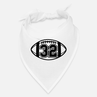 32 Football Vector 1_color TAS - Bandana