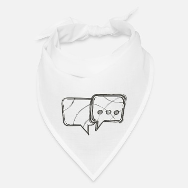 Text Message Text Message Speech Bubbles - Bandana