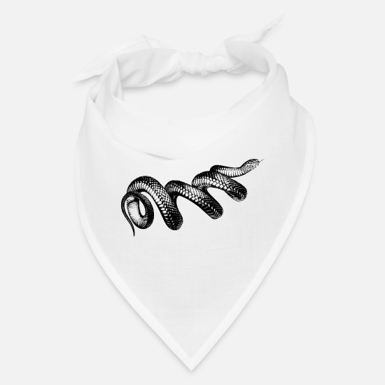 Pain Caps - Coiled Snake - Bandana white