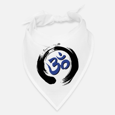 Auṃ or Oṃ with Zen Ensō Circle - Bandana