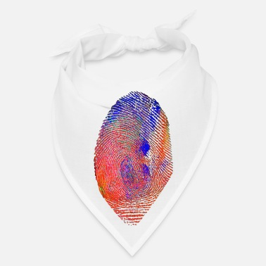 Prints Fingerprint finger print color colour paint artist - Bandana