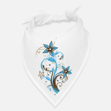 Floral Beach Party Summer Flowers Water Wave - Bandana
