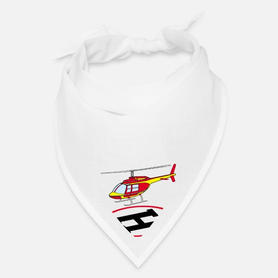 With Caps - Landing helicopter - Bandana white