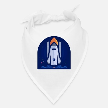 Space Rocket in space - Bandana