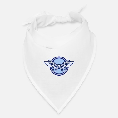 Aviation Crossed Spanner Air Force Wings Icon - Bandana