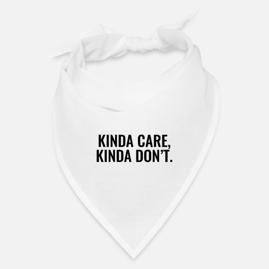 Career Caps - kinda care - Bandana white