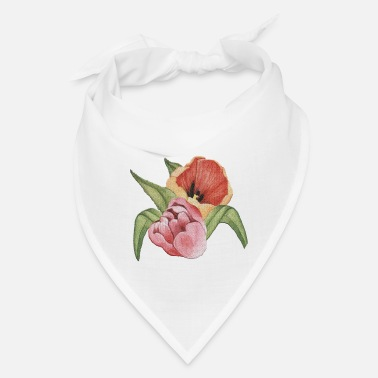 Bed Hand drawn tulip flower isolated - Bandana