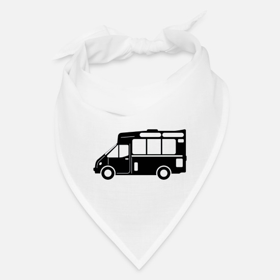 Food Chain Caps - Food truck graphic Black - Bandana white