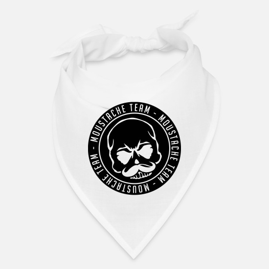 Beard Caps - moustache_team_skull_cy1 - Bandana white