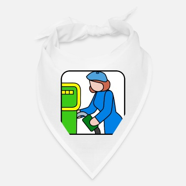 Gas Pump pumping gas - Bandana